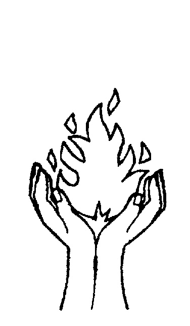 CUPPED HANDS HOLDING FIRE by Forward Planning Choices Pty