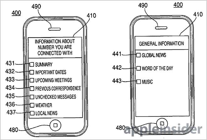 Apple brevetta un sistema che mostra informazioni