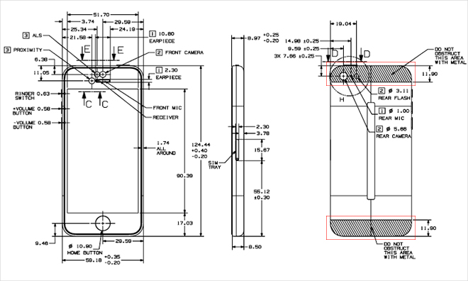 Apple mostra il layout interno di iPhone 5C e 5S nelle