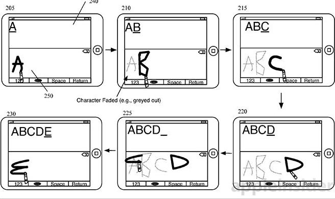 Apple brevetta un nuovo sistema di scrittura manuale