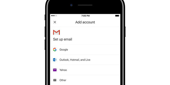 Gmail per iOS permetterà di aggiungere account di posta