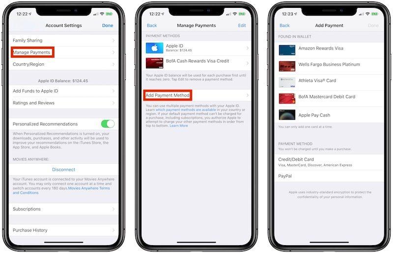 Apple Pay è ora accettato per gli acquisti su iTunes, App