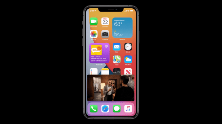picture in picture ios 14