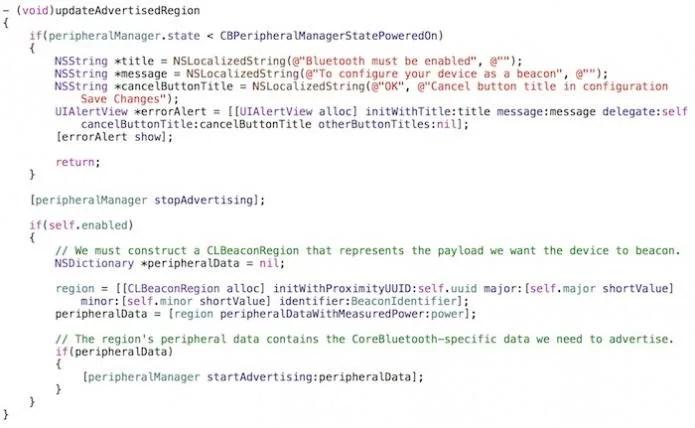 Configuration updateAdvertisedRegion
