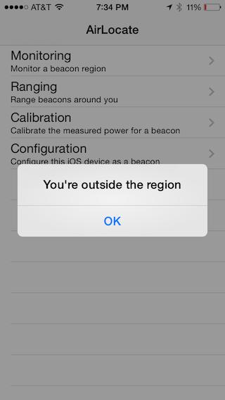 Outside the region