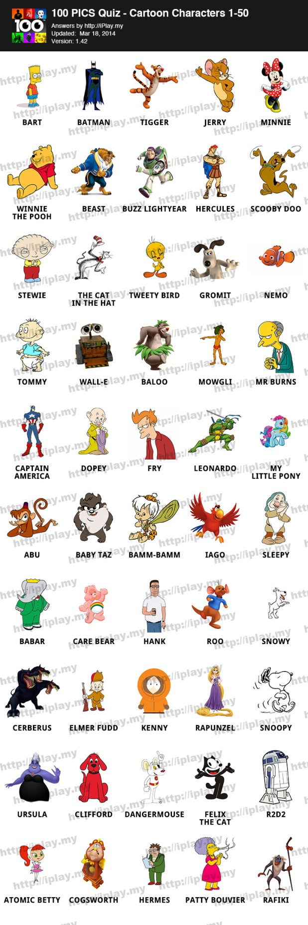 Anime Characters Quiz Answers : Cartoon character quiz iphone answers fandifavi