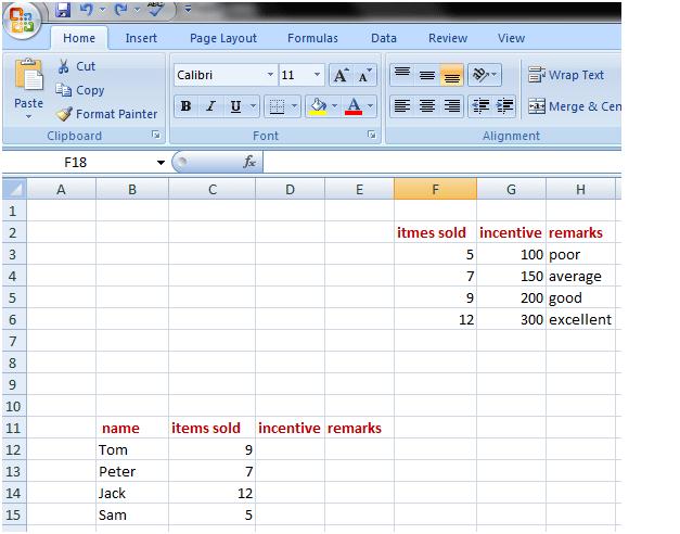 vlookup in Excel 1