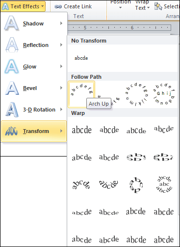 How To Arch Text In Word : Curve, Microsoft, Document, Javatpoint
