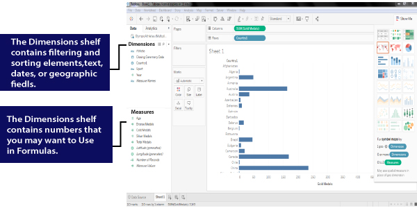 Data Window and Data Types in Tableau