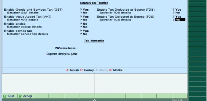 Statutory & Taxation in Tally ERP 9
