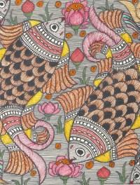 Madhubani Paintings Fish Design - Painting Ideas