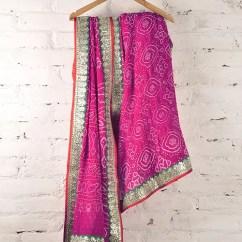 Kitchen Curtains For Sale High Chair Counter Buy Crimson Pink Gota Patti, Mukaish & Zari Georgette ...