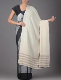Buy Ivory-Beige Pashmina Shawl Online at Jaypore.com