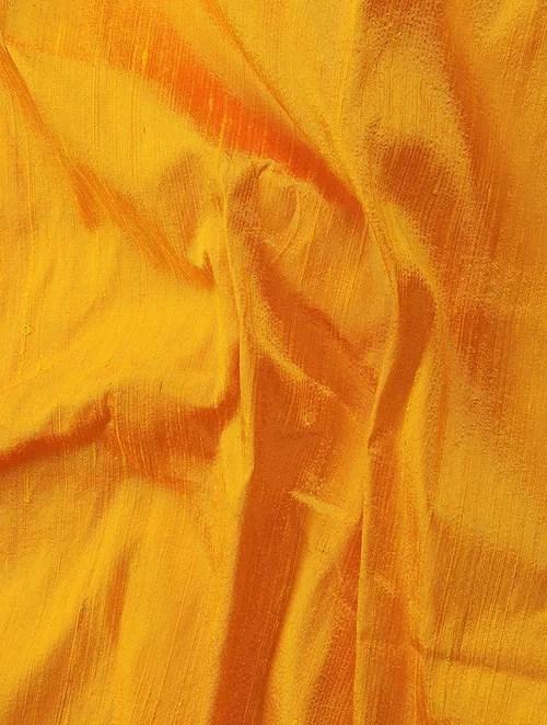 Buy Yellow Raw Silk Fabric Online at Jayporecom