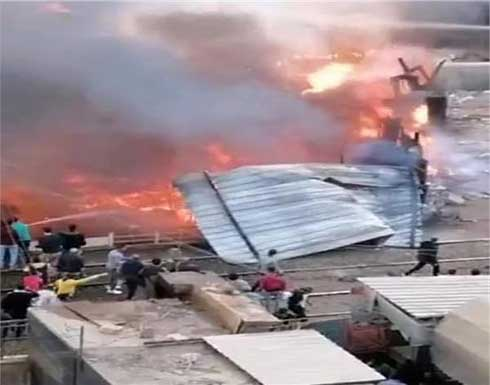 In der Nähe des Bahnhofs Zagazig in Ägypten brach ein Feuer aus. Video