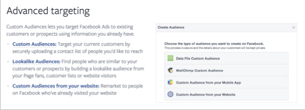 Advanced targeting example for how to promote your quizzes on Facebook