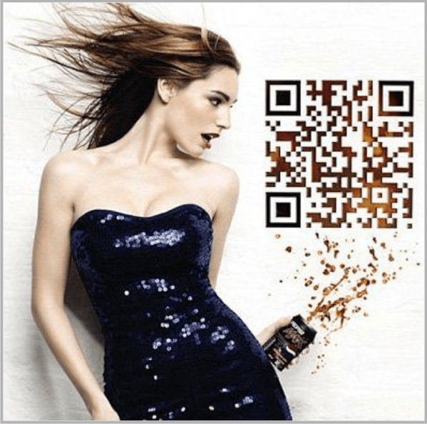QR code example for print and digital
