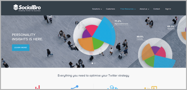 SocialBro - example of social media management tools