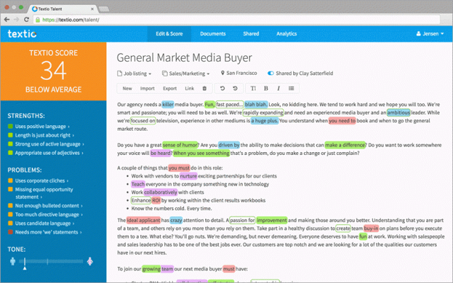 content writers for machine learning tools