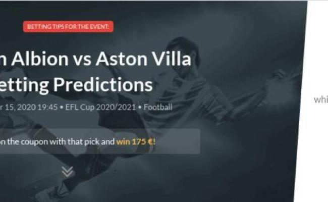Burton Albion Vs Aston Villa Betting Predictions Tips