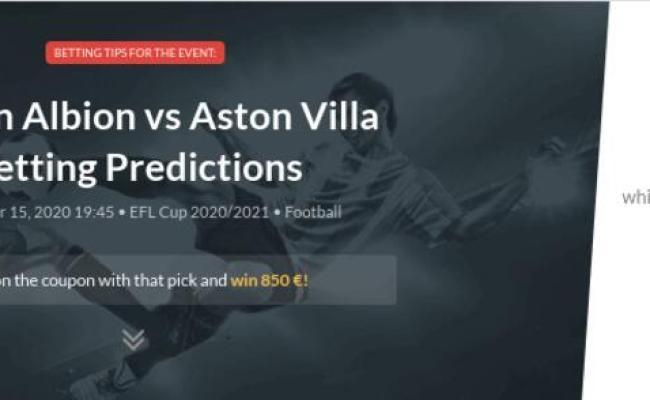Burton Albion Vs Aston Villa Betting Predictions Tips