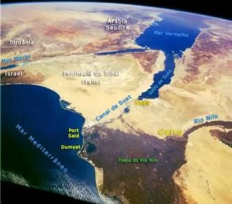 Canal fotografado via satélite. (Foto: Google Imagens)
