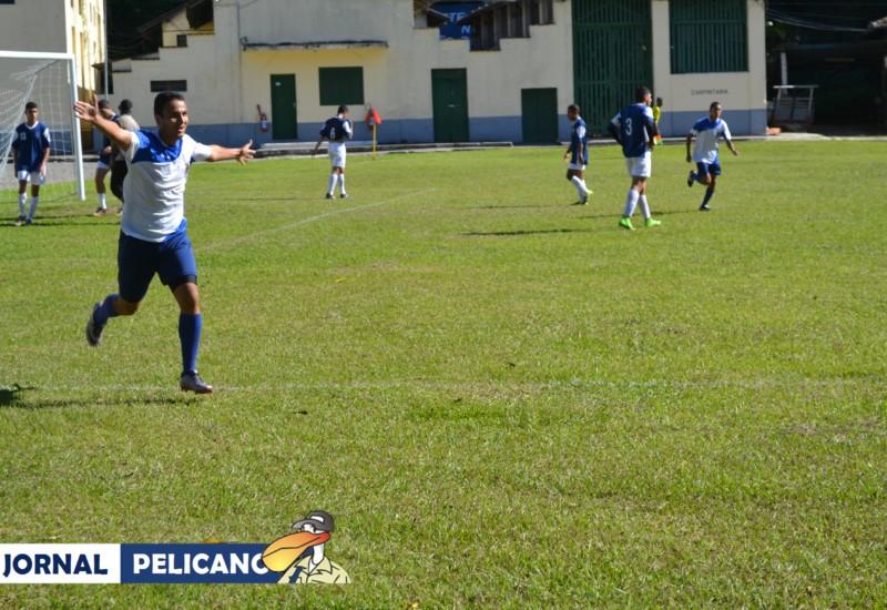 Al. Denilson comemora o primeiro gol do jogo. (Foto: Jornal Pelicano)