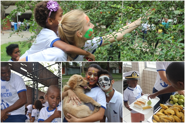 Crianças e voluntários se confundem em Dia do Sonho, (Montagem: Jornal Pelicano)