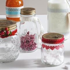 Kitchen Jars Stainless Steel Counter 厝物社 意大利进口耐热玻璃密封罐厨房储物罐果酱蜂蜜瓶泡菜罐子 七月时光 意大利进口耐热玻璃密封罐厨房储物罐果酱