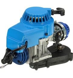 generic 2 stroke engine motor with carb air filter gear box 49cc mini dirt bike atv quad blue  [ 1000 x 1000 Pixel ]