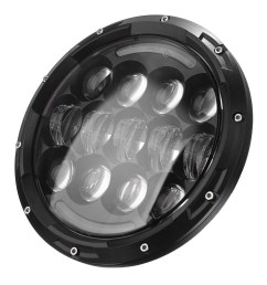 generic for 97 16 jeep wrangler tj jk 7 round led 105w hi lo beam drl headlight 6500k [ 1200 x 1200 Pixel ]