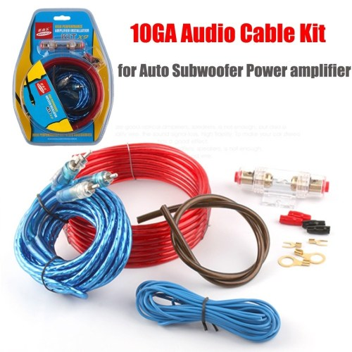 small resolution of generic 10ga car cable audio kit for auto amplifier subwoofer wiring power cable