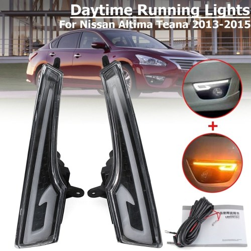 small resolution of generic pair led drl daytime running lights lamp for nissan altima teana 2013 2015