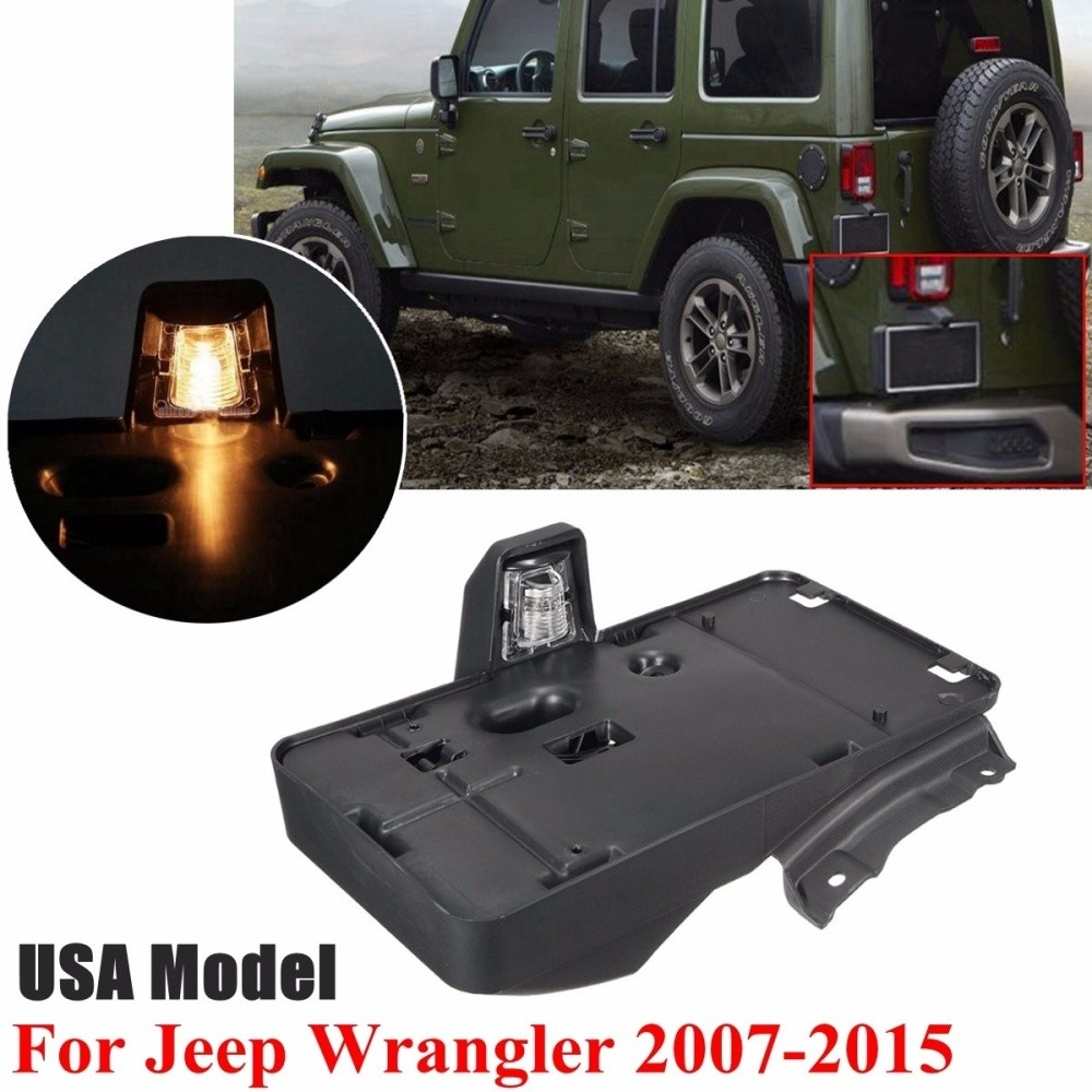 medium resolution of generic black rear license plate holder bracket for jeep wrangler 2007 2015 usa model