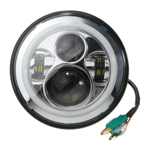 small resolution of generic 7 round white led halo drl signal lamp projector headlights for jeep wrangler 97 16 12 30v