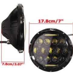 generic autoleader 7 inch round 75w led hi low beam headlight for jeep wrangler land rover harley davidson hummer [ 1000 x 1000 Pixel ]