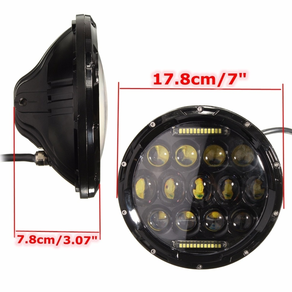 medium resolution of generic autoleader 7 inch round 75w led hi low beam headlight for jeep wrangler land rover harley davidson hummer