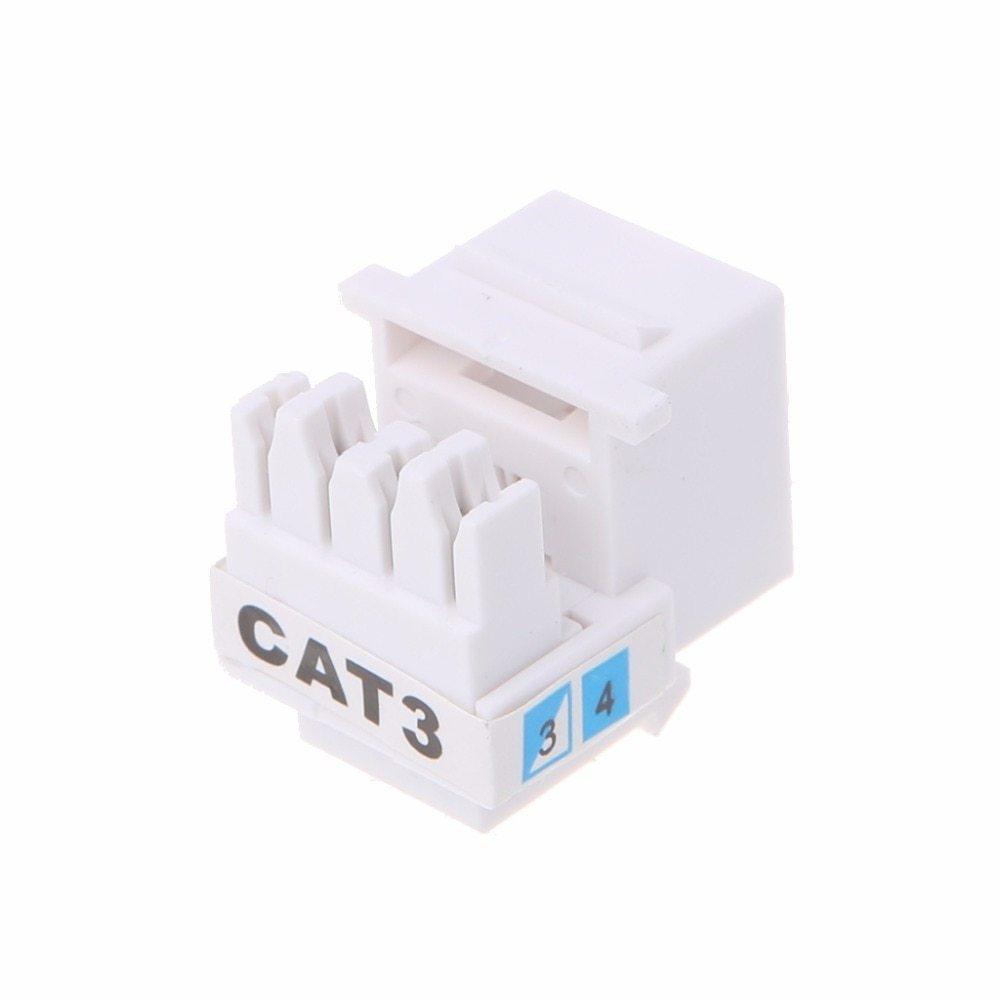 hight resolution of generic 10pcs set tool free telephone module rj11 cat3 voice module gold plated adapter keystone jack