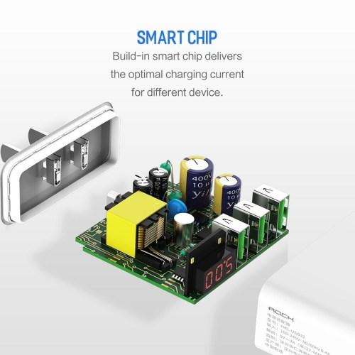 small resolution of this is universal multiple port usb wall charger with led display screen which can display the current and voltage alternately and its wide voltage of 100