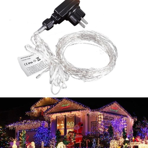 small resolution of generic outdoor waterproof 220v 10m 100leds strings starry copper wire led string strip light mqshop