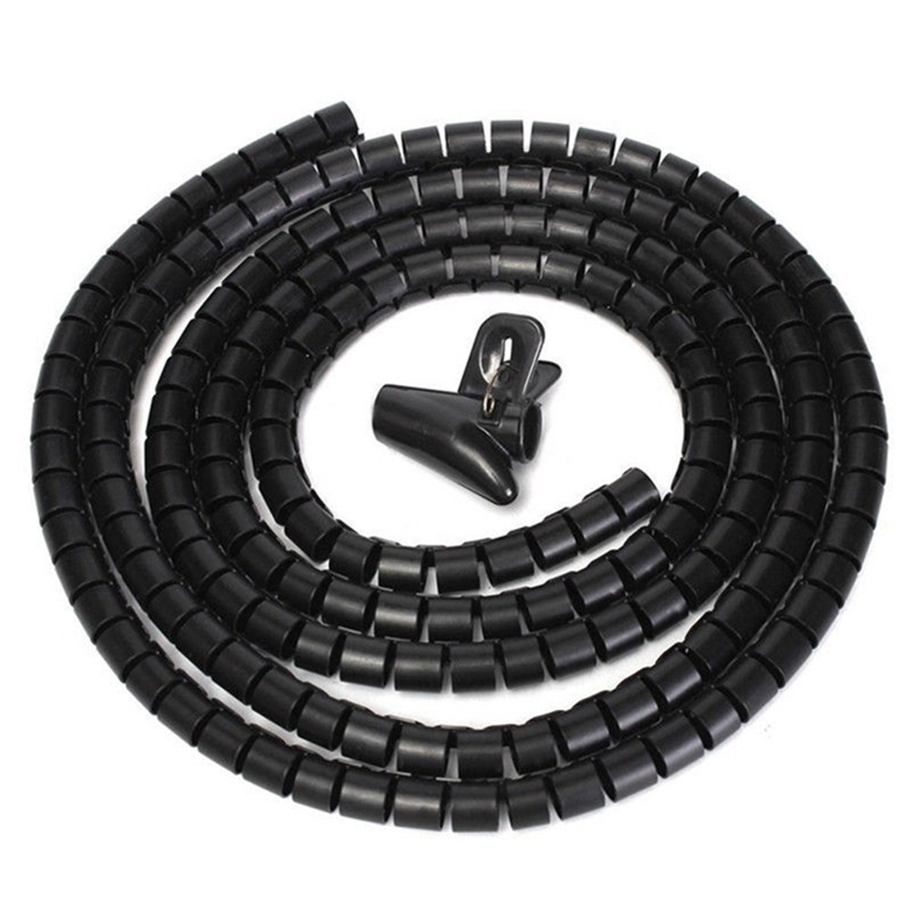 medium resolution of generic flexible spiral tube cable winder cable organizer wire wrap cord protector 10mm