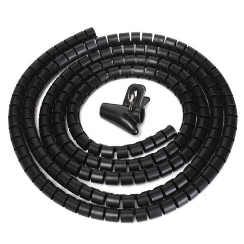 small resolution of generic flexible spiral tube cable winder cable organizer wire wrap cord protector 10mm