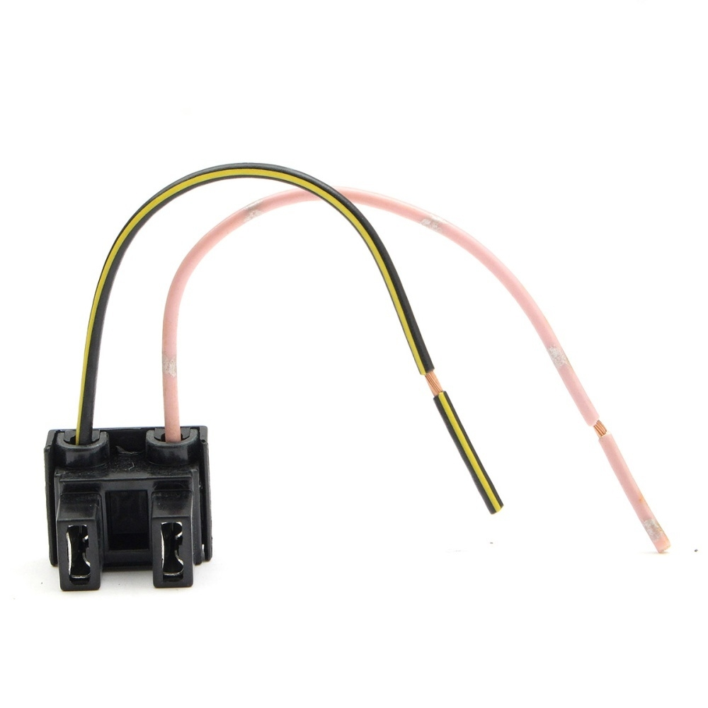 hight resolution of 2 pin h7 headlight xeon bulb connector plug wiring harness socket adapter new