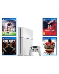 PlayStation 4 - 500GB - White + 4 Games