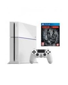 PlayStation 4 - 500GB - White + Evolve Game Disc