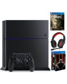 PlayStation 4 - 500GB Console + Sentey Symph Headphone + FallOut 4 + Call of Duty Black OPS III with Metal Box