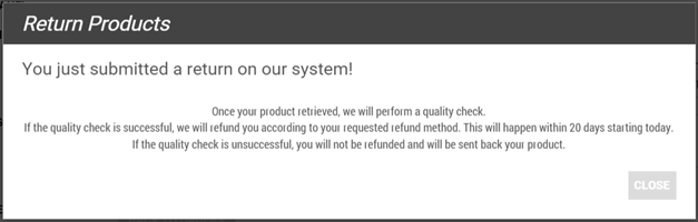 jumia return policy submitted successfully message