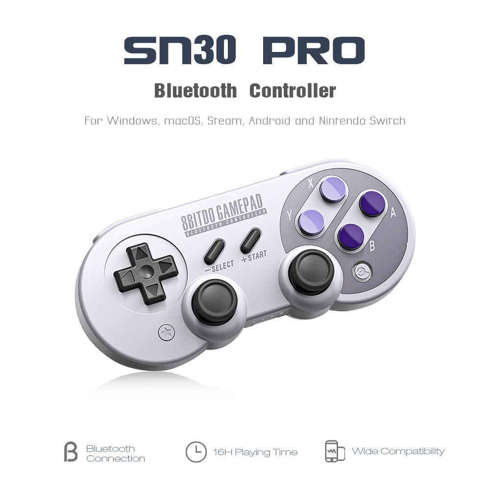 06e7dbe138407c50bba3cc1e3b884833 8Bitdo SN30 Pro Wireless Bluetooth Controller With Classic Joystick Gamepad For Android Nintendo Switch Windows MacOS Steam GRAY