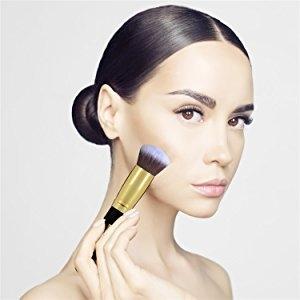 a39e60edec97eb84c42ee723d095d628 Daurici Makeup Brushes Premium Makeup Brush Set Synthetic Cosmetics Foundation Blending Blush Eyeliner Face Powder Brush Makeup Brush Kit (10pcs, Golden Black)