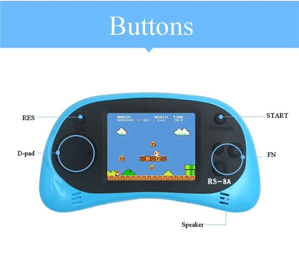 EastBuy NEW Kids Color Screen Game Console RS 8A 2.5 Inch LCD 260 8bit Games TV Output Portable Handheld Game Player price on jumia Nigeria via specspricereview.com